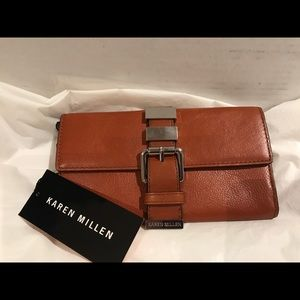 Karen Millen Brown Leather Wallet